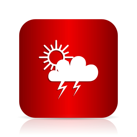 storm red square modern design icon Stock Photo