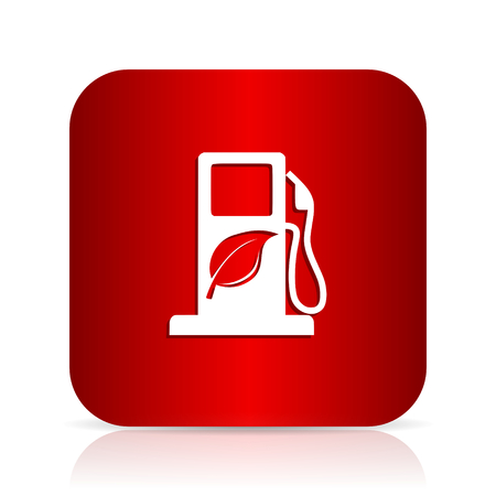 biofuel: biofuel red square modern design icon Stock Photo