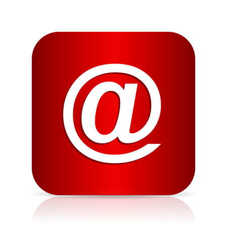 email red square modern design icon Stock Photo