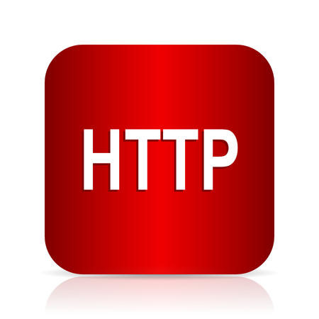 http: http red square modern design icon