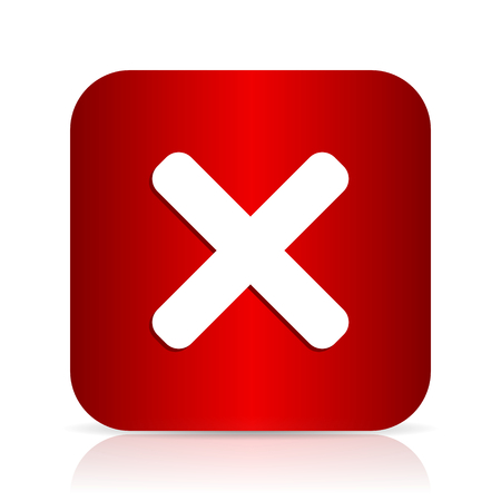 cancel red square modern design icon Stock Photo