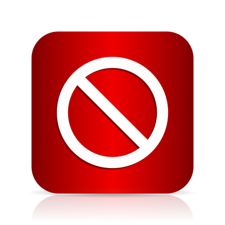 access denied: access denied red square modern design icon