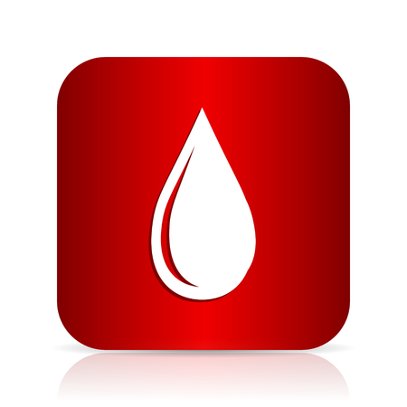 drinkable: water drop red square modern design icon