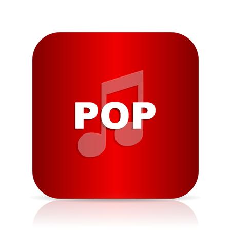 live stream sign: pop music red square modern design icon