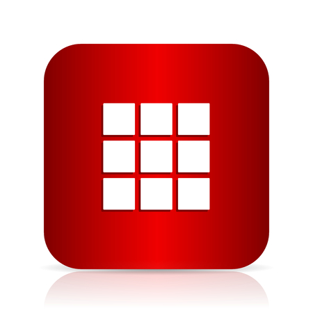 thumbnails: thumbnails grid red square modern design icon Stock Photo