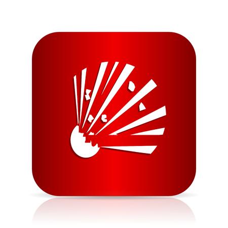 bomb red square modern design icon