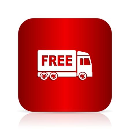deliverance: free delivery red square modern design icon