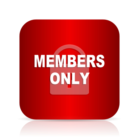 members only: members only red square modern design icon