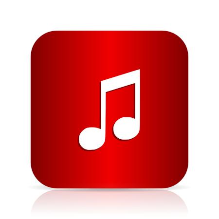 melodic: music red square modern design icon