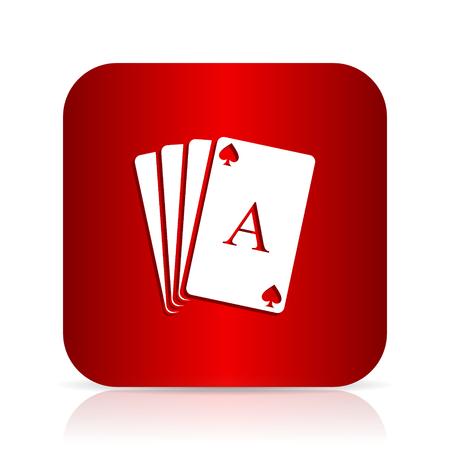 card red square modern design icon Stock Photo