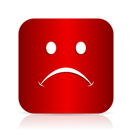 cry red square modern design icon Stock Photo
