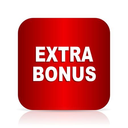 discounting: extra bonus red square modern design icon