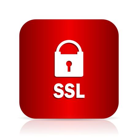 ssl: ssl red square modern design icon