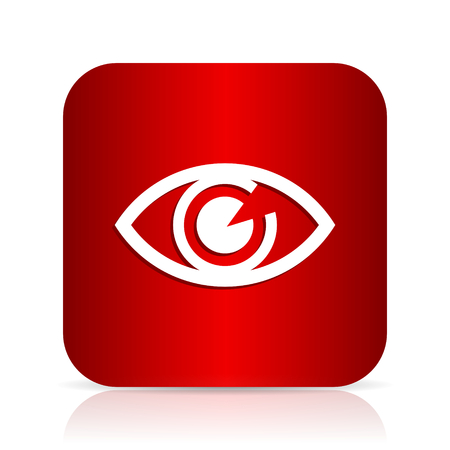 eye red: eye red square modern design icon Stock Photo