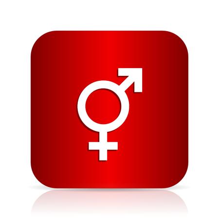 sex red square modern design icon Stock Photo