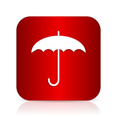 umbrella red square modern design icon Stock Photo