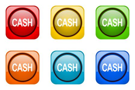 web icons: cash colorful web icons