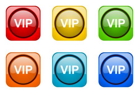 web icons: vip colorful web icons