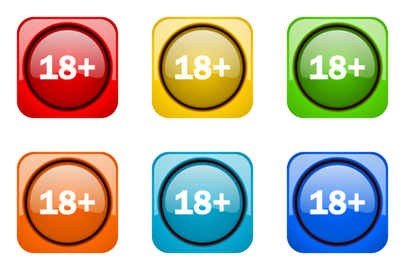 adults: adults colorful web icons