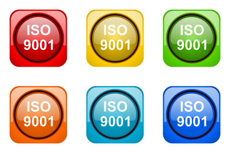 norm: iso 9001 colorful web icons