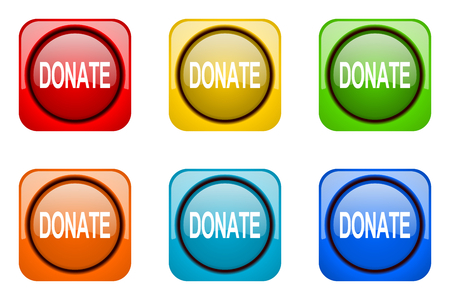 web icons: donate colorful web icons