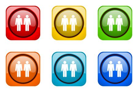 couple colorful web icons Stock Photo