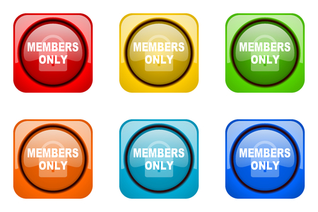 members only: members only colorful web icons