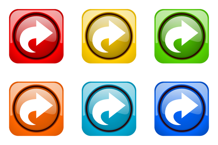 next colorful web icons