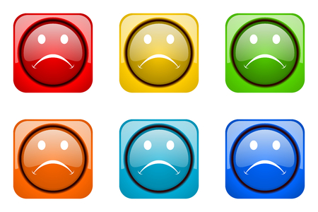 cry colorful web icons