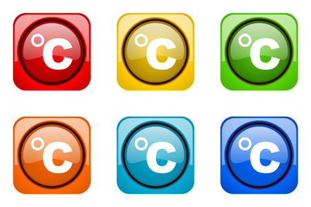 web icons: celsius colorful web icons