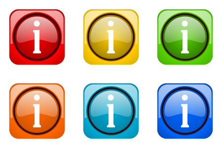 web icons: information colorful web icons Stock Photo