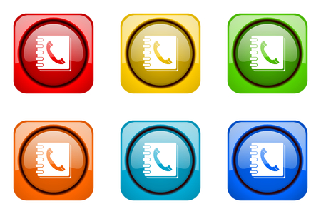 phonebook: phonebook colorful web icons