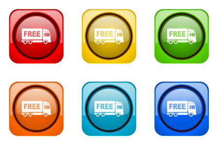 deliverance: free delivery colorful web icons