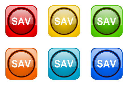 web icons: sav colorful web icons