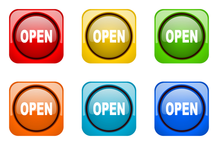 web icons: open colorful web icons Stock Photo