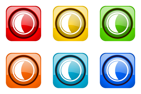 web icons: moon colorful web icons Stock Photo