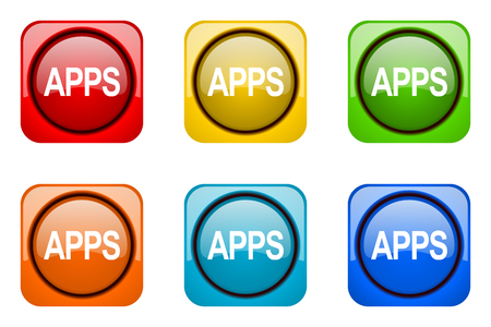 web icons: apps colorful web icons