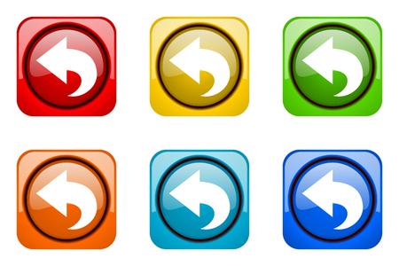 web icons: back colorful web icons Stock Photo