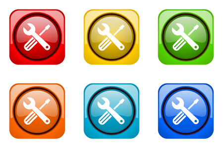 web icons: tools colorful web icons