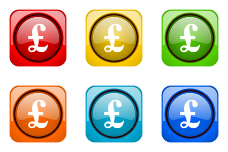 web icons: pound colorful web icons