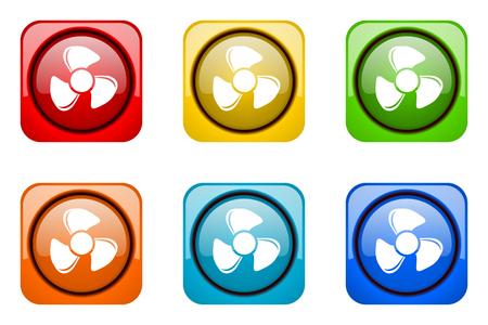 web icons: fan colorful web icons Stock Photo