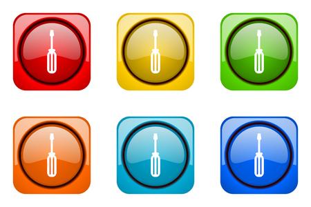 web icons: tool colorful web icons