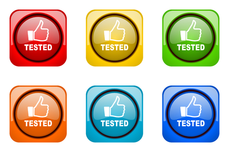 tested: tested colorful web icons