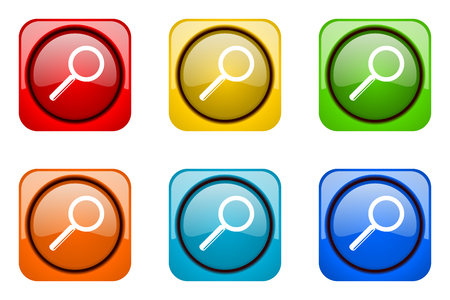 web icons: search colorful web icons Stock Photo