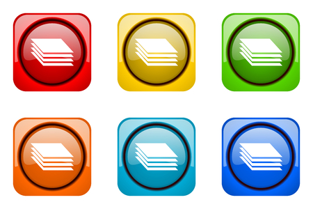 in layers: layers colorful web icons