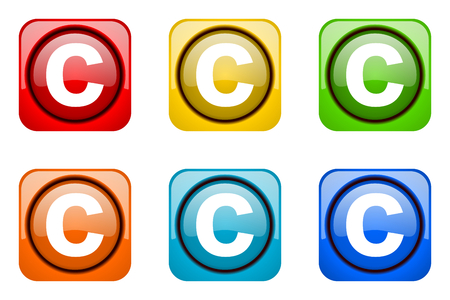 copyright: copyright colorful web icons