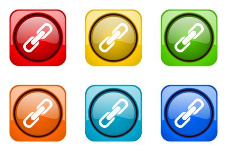 la union hace la fuerza: link colorful web icons