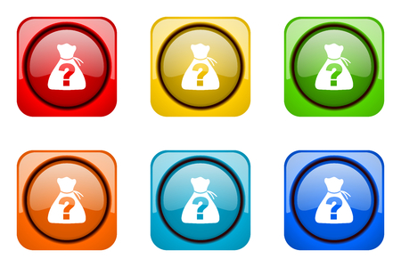 riddle: riddle colorful web icons Stock Photo