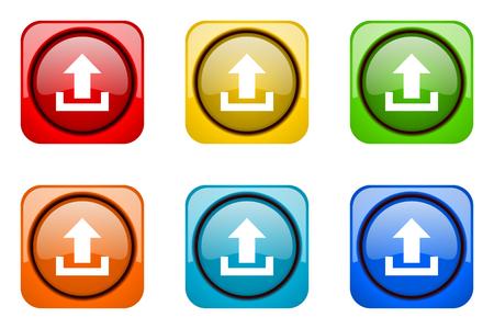 web icons: upload colorful web icons