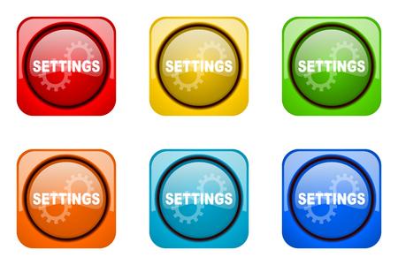 web icons: settings colorful web icons